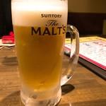 安喜吉 - 2018年2月 モルツ生ビール