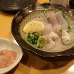 日本酒スローフード とやま方舟 - ウマヅラハギお造り 900円