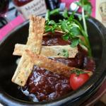 スペインバル リサリサ - 無添加牛肉100%手ごね生ハンバーグ1300円