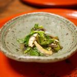 草喰 なかひがし - 小松菜と蕨、お揚げの煮浸し