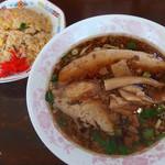 麺や 太華 - 中華そばハーフ(500円)+チャーハンセット(450円)