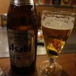 長田タンク筋 - 瓶ビールはアサヒ