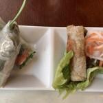 ベトナム料理レストラン 333 - 牛肉フォーセット ¥790 の生春巻き、揚げ春巻き