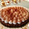 ファンクションルーム - 料理写真:バローナチョコを使ったチョコタルト@ヴァローナ(仏)のミルクチョコガナッシュがしっかり。美味!