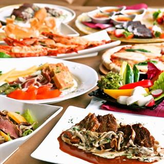 グループのご利用や貸切利用も可能なボリューム満点宴会料理!