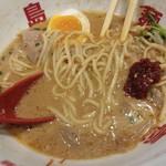 福島壱麺 - 牛ヒレ肉のゴマミソラーメン-辛味噌投入