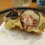 天仁 - 椎茸と蛸のハサミ揚げ(*^^*)