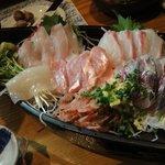 遊酒 花房 - 鮮魚刺身小川港五点盛 1200円