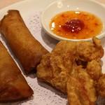 千禧楼 - 手作り春巻と若鶏の唐揚げ