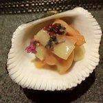 81061606 - 赤貝とウドの酢味噌和え…なんとも言えず丁度良いお味(*^^*)