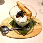 タストゥー - 『スモークチキンとビオ野菜の黒トリュフヴィネグレット、半熟卵』
