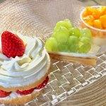 近江屋洋菓子店 - 苺サードショート 800円、グリーンシードレス 550円、パパイヤムース 400円