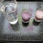 秋保グランドホテル - ドリンク写真:水とスムージーをスターターに