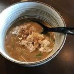 麺処 と市 - 残り汁で雑炊!