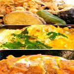 府中 武蔵野うどん - 料理写真:かき揚げ天丼(写真上)、親子丼(写真中)にカツ丼(写真下)