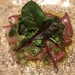 赤坂 ぽん輔 - 鮮魚と九条葱のカルパッチョ〜すだちの香り仕立て〜 ¥880