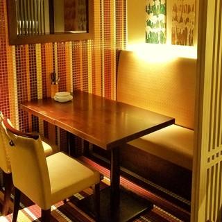 ゆっくりとお食事を楽しむ「大人の空間」※個室あり