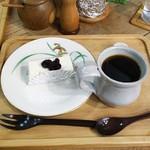 カフェ せせらぎ - レアチーズケーキセット
