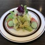 きなり食堂 - 定食のサラダ  マリネになってて絶品