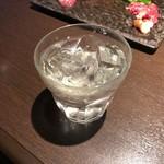 馬桜 - 球磨焼酎花の水割り