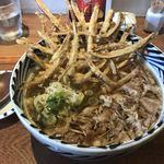 増田うどん - 肉うどん麺アップ