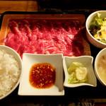 81093348 - 山形牛焼肉党定食(150g)2100円