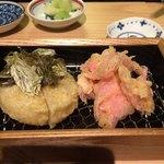 スワンレイクパブエド修蔵 - おでん大根天ぷら、ガリ天ぷら