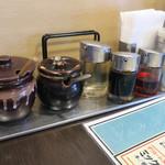 三珍 富士力食堂 - 卓上調味料