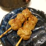 ホルモン串焼き 丸高 - 鶏ミンチ