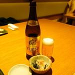 81101429 - 瓶ビール700円、お通し300円