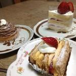 パティスリー アンド ブーランジェリー ペイザンヌ - 料理写真:ケーキ数種類