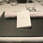 リストランテ カノフィーロ - 2018年2月17日のテーブルセット