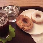 カフェ Marui堂 - ドーナツセット+アイスコーヒー\250