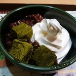 ファーストキッチン   - 抹茶わらび餅のクリームぜんざい
