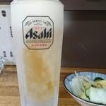 鳥源 - キンっきんに冷えた生ビール