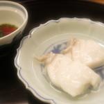 神楽坂ささ木 - クエの葛薄衣酒蒸し 和歌山県産20kgのクエ