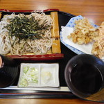 福本 - 海鮮かきあげ天ざる ¥1000