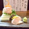 Dainagonhonke - 料理写真:まだまだ正月気分が楽しめる盛り付けの甘鯛焼霜降りは絶品でした