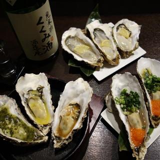 新鮮な牡蠣料理