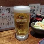 焼鳥 ひらい - 生ビール