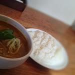 81120975 - スープカレー麺900円+ライス100円