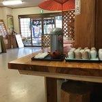 くまの親子 - お茶コーナー