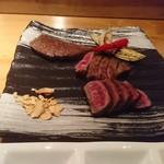 81121598 - 熟成赤身肉、サーロイン、シャトーブリアンの盛り合わせ