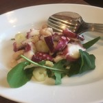 トラットリア エ ピッツェリア リンカント - 真ダコとセロリ、白いんげん豆のマリネ800円