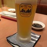 焼肉花炎 - 生ビール