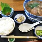 そば廣 - 京南蛮蕎麦ごはん付き1,500円