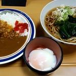 名代 富士そば - 朝カレーセット:360円