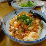四ツ木製麺所 - キムチ納豆豆腐