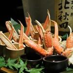 81133335 - 【名 物】  蟹の創作浜焼き