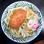 つるや郷東店 - 料理写真:コロッケうどん(かけうどん+コロッケ)